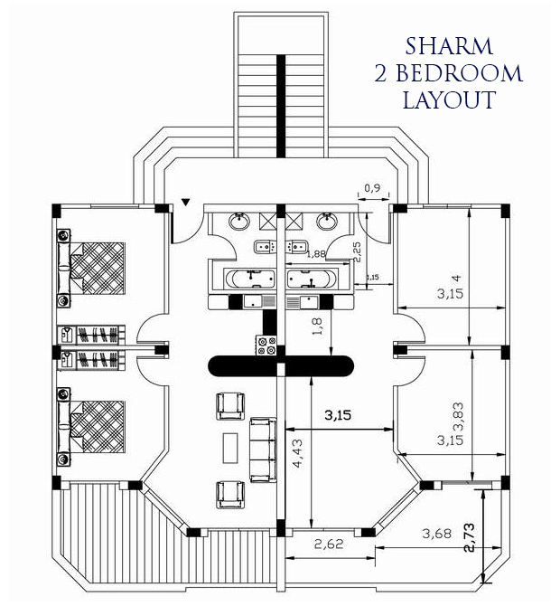 Sharm 2 bed layout