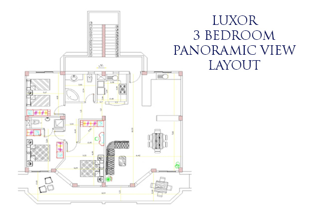 Luxor 3 bed panaramic layout