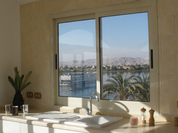 Panoramic view from Luxor apartment
