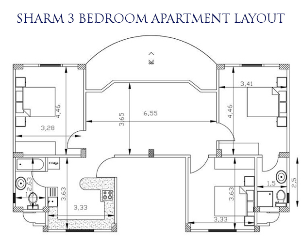 Sharm 3 bed layout