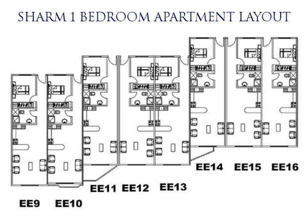Sharm 1 bed layout