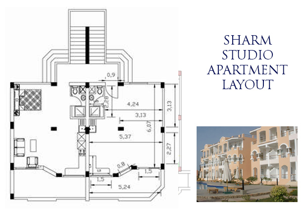 Sharm studio layout